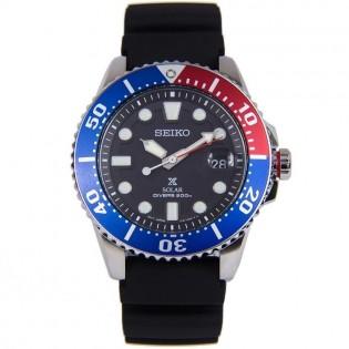 Seiko SNE439P1 Men's Prospex Solar Diver 200m Silicone Strap Watch