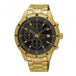 Seiko SKS568P1 Men's Chronograph Quartz Gold Plated  Steel Watch