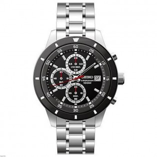 Seiko SKS569P1 Men's Chronograph Quartz Steel Watch