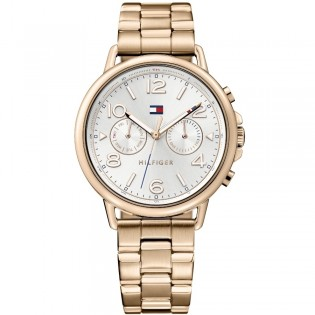 Tommy Hilfiger 1781733 Women's Casey Quartz Multifunction Rose Gold Plated Steel Watch