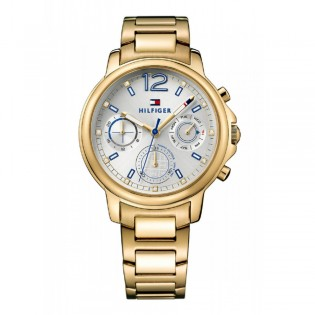 Tommy Hilfiger 1781742 Men's Claudia Quartz Gold Plated Steel Watch