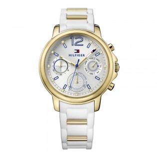 Tommy Hilfiger 1781745 Women's Claudia Quartz White Silicone Watch