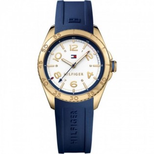Tommy Hilfiger 1781637 Women's Lizzie Quartz Blue Silicone Watch