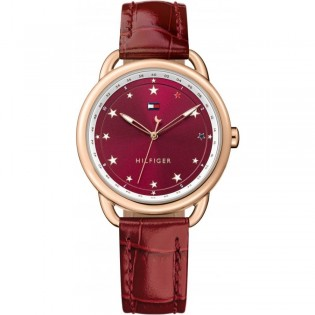 Tommy Hilfiger 1781740 Women's Lucy Quartz Red Leather Watch
