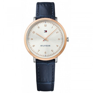 Tommy Hilfiger 1781764 Women's Pippa Quartz Blue Leather Watch
