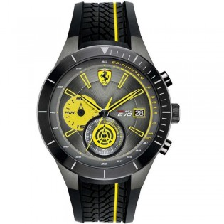 Scuderia Ferrari 830341 Men's Redrev Evo Quartz Chronograph Silicone Strap Watch