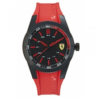 Scuderia Ferrari 830299 Men's Redrev Quartz Red Silicone Strap Watch