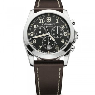 Victorinox Swiss 241567 Men's Infantry Quartz Chronograph Leather Watch