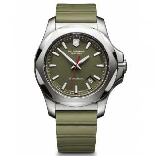 Victorinox Swiss Army 241683.1 Men's Inox Quartz Green Rubber Strap Watch