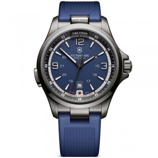 Victorinox Swiss Army 241707 Men's Night Vision Quartz Blue Rubber Strap Watch