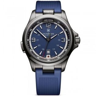 Victorinox Swiss Army 241707 Men's Night Vision Quartz Blue Rubber Strap Watch
