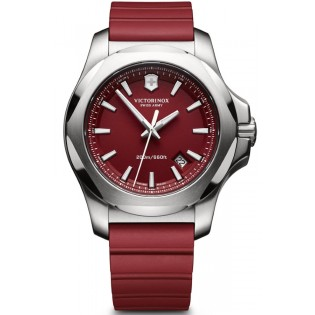 Victorinox Swiss Army 241719.1 Men's Inox Quartz Red Rubber Strap Watch