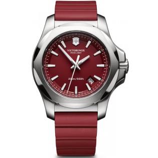 Victorinox Swiss Army 241719.1 Men's Inox Quartz Red Rubber Strap Watch