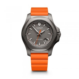 Victorinox Swiss Army 241758 Men's Inox Quartz Orange Rubber Strap Watch