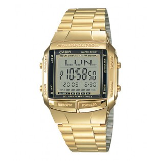 Casio DB-360G-9ASDF Unisex Data Bank 10 Years Battery Gold Watch DB-360G-9A