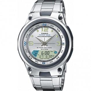 Casio AW-82D-7AVDF Men's Fishing Gear Digital Analog Steel Watch AW-82D-7AV