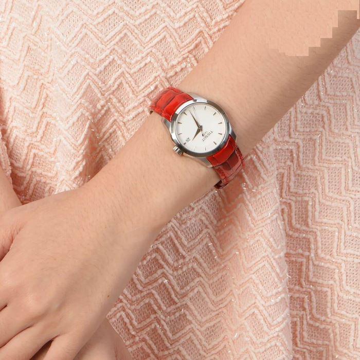 Tissot T035.210.16.011.01 Women s Couturier Lady Quartz Leather Watch (Red) f1d90b634