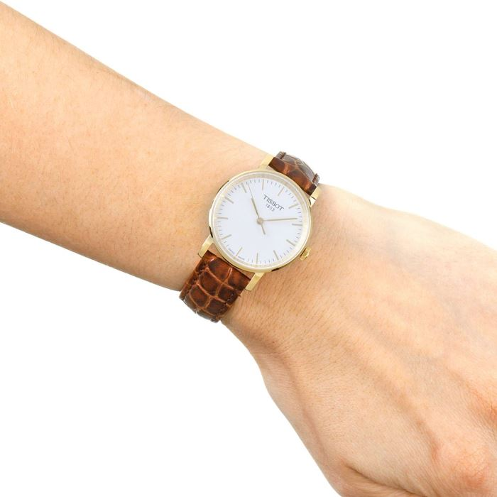 Tissot T109.210.36.031.00 Women s Everytime Small Quartz Leather Strap Watch 185ee63a60